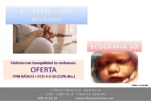 TEST PRENATAL NO INVASIVO Y CONOCER EL SEXO DE TU BEBÉ (A PARTIR DE LA SEMANA 10 DE EMBARAZO) + ECOGRAFÍA EN 3-4 Ó 5 DIMENSIONES (A PARTIR DE LA SEMANA 28 DE EMBARAZO). 10% DTO. EN TU 3-4/5D.